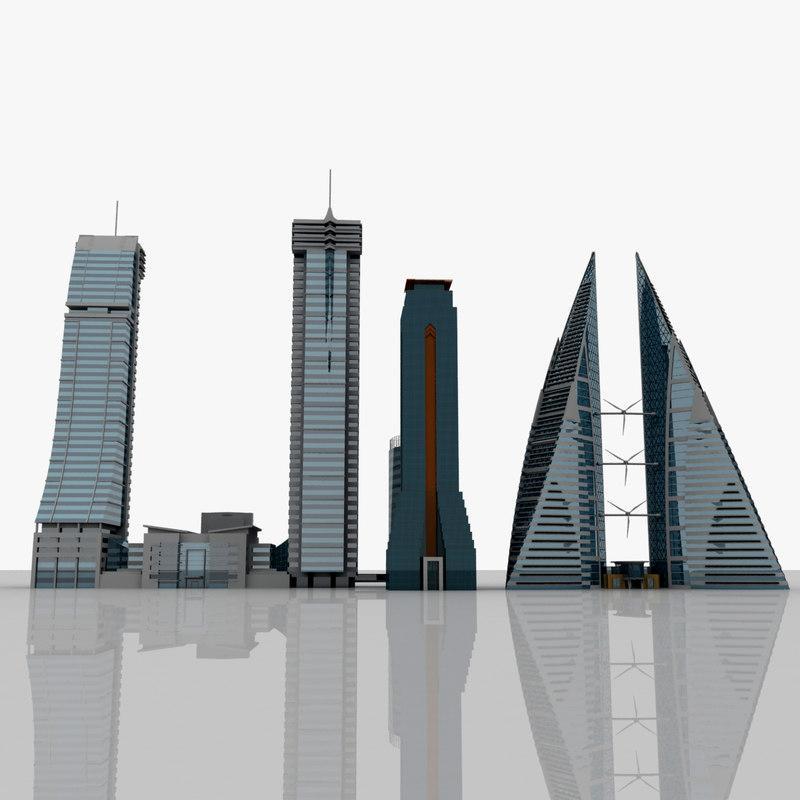 bahrain buildings 3ds