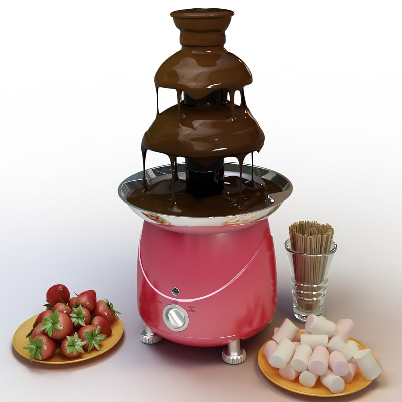 3ds max chocolate fountain