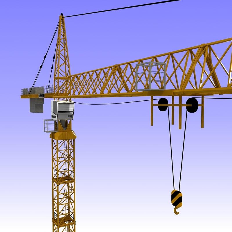 3dsmax tower crane