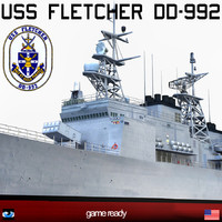 uss fletcher dd-992 dd 3ds