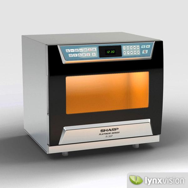 r36p oven sharp 3d model