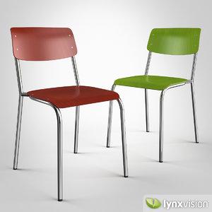 3d model hassenpflug chair 1255