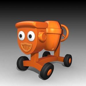 3d model dizzy bob builder