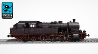 steam locomotive lk 06 3d max