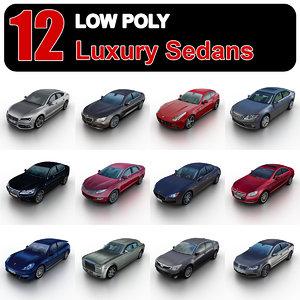 luxury sedans 1 3d model
