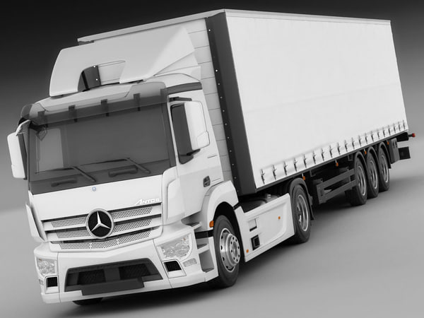 3d model mercedes antos trailer