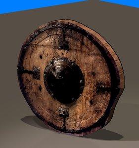 medieval shield old blend