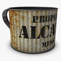 tin cup 3d max