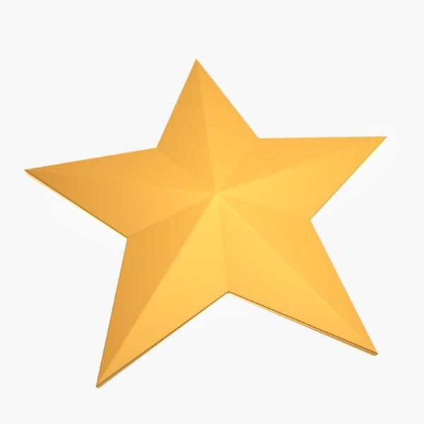 3d model of star