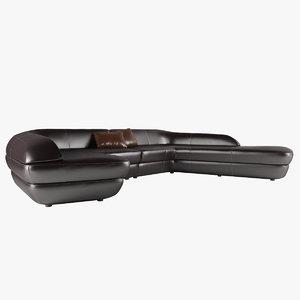ora-ito modular sectional sofa 3d max