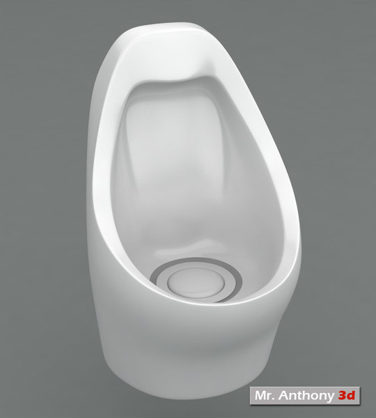 waterless urinal 3d model