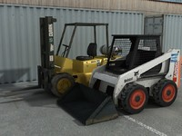 3d skidsteer skid steer model
