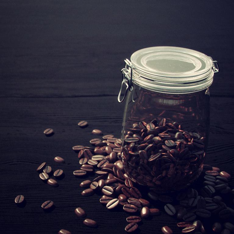 3dsmax beans glass coffee