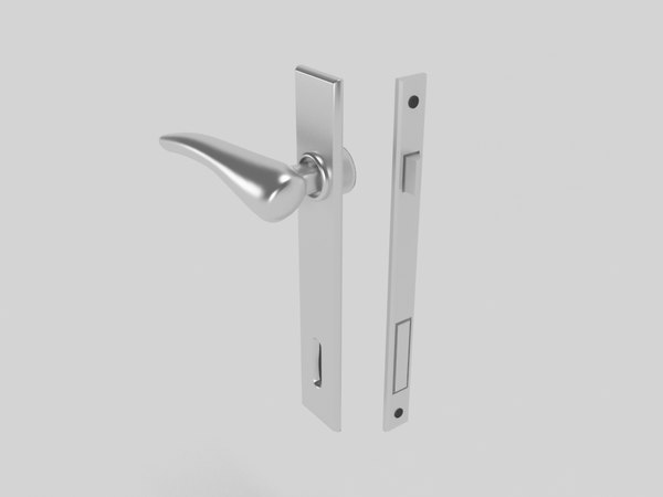 3d model architecture door handle