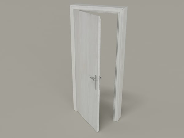 architecture white door 3d model