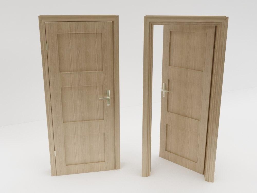 3d architecture door model