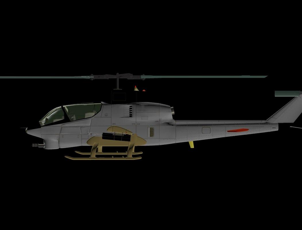 3ds max ah-12 aircraft