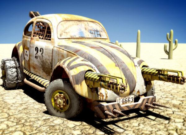 baja desert environment 3d obj