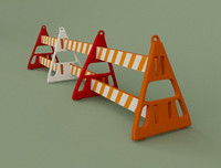 3d model of barricade