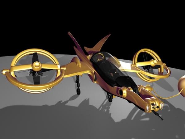3d model fly fighter