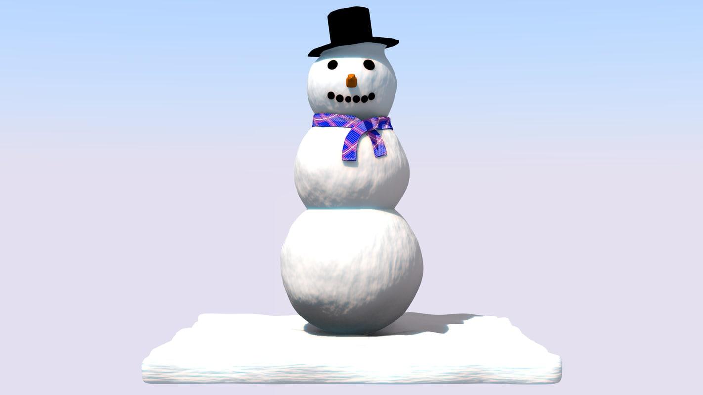 snow snowman 3d model