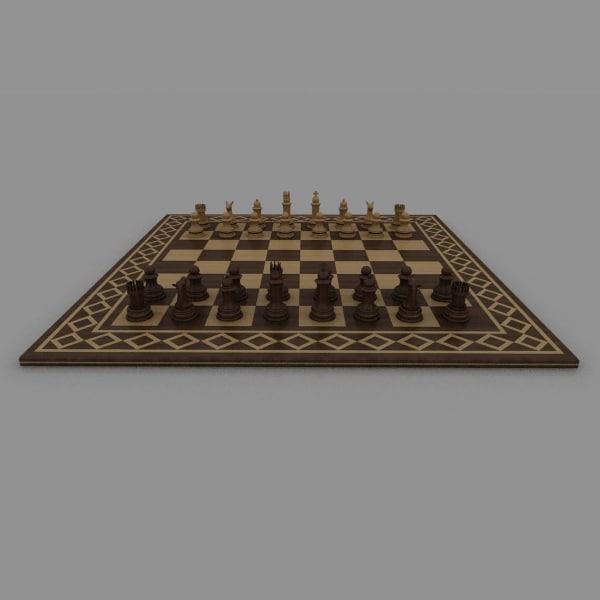 chess board 3d max