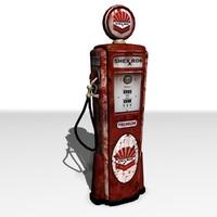 1950 gas pump 3d model