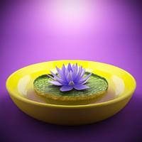 3d studio flower model
