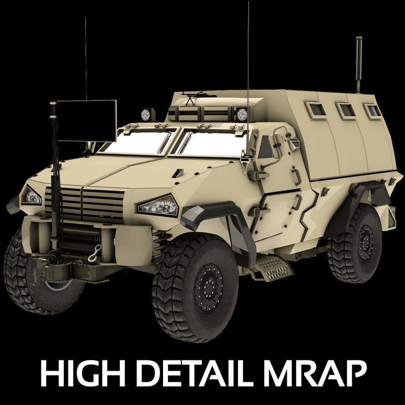 3d model mrap 2014 vehicle transportation