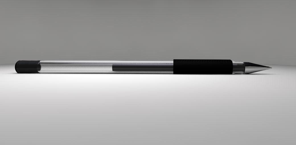 3d model black gel pen