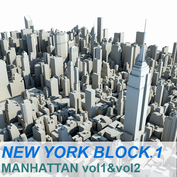 new york manhattan block 3d model
