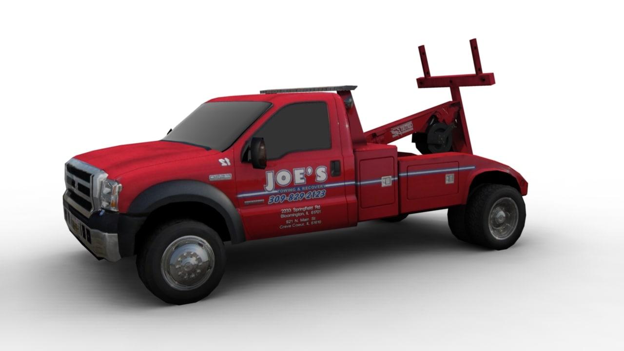3d tow car model