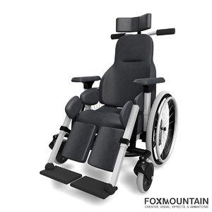 3d wheelchair deluxe model