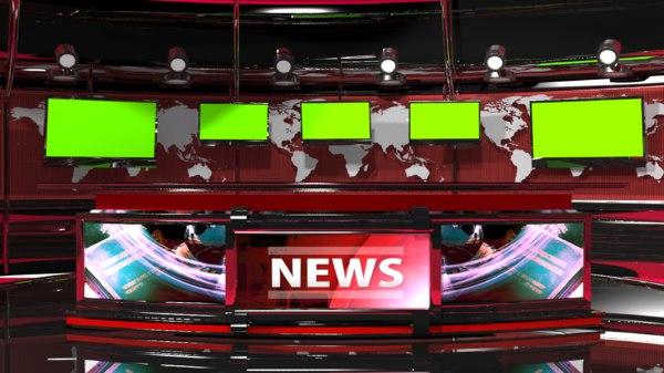 3d max vr tv studio