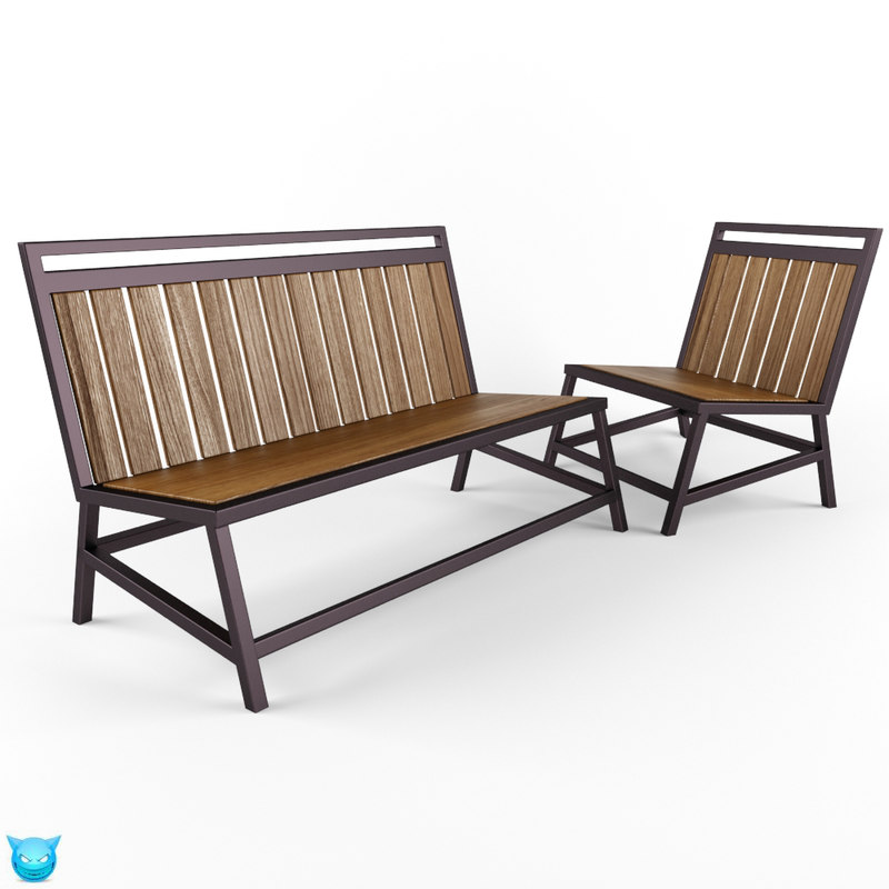 furniture bench seat 3d model