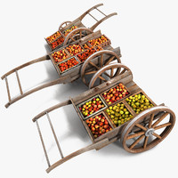 Apple Wood Marketplace Cart