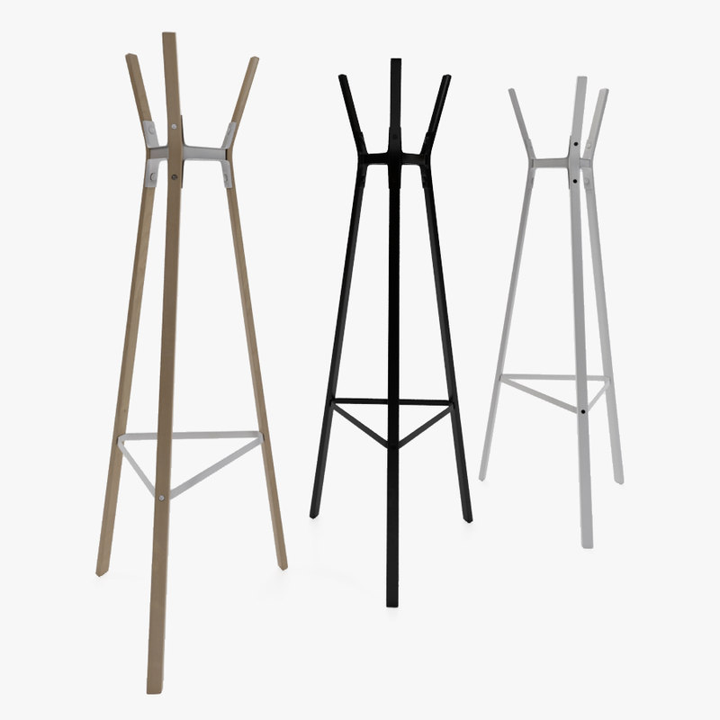 3d max coat stand steelwood magis