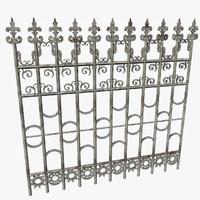 lattice decorative mansion 3d 3ds