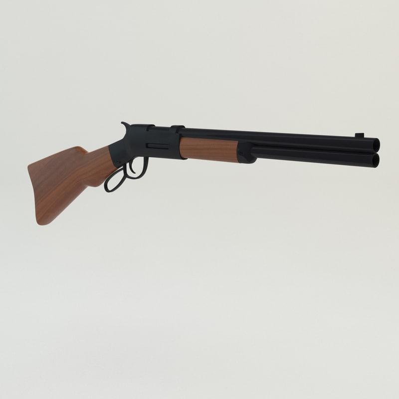 cartoon rifle 3d model
