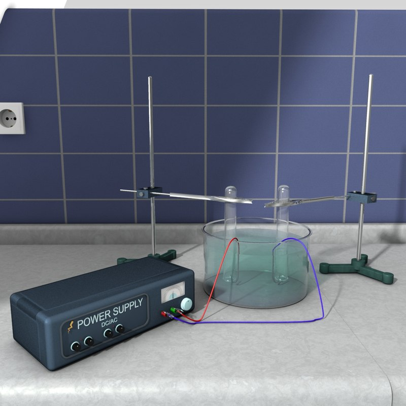 3d model electrolysis waters