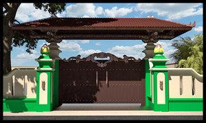 3d gate entrance model