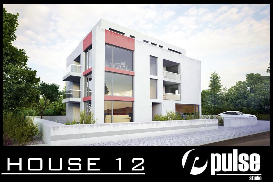 apartment house modern 3d model