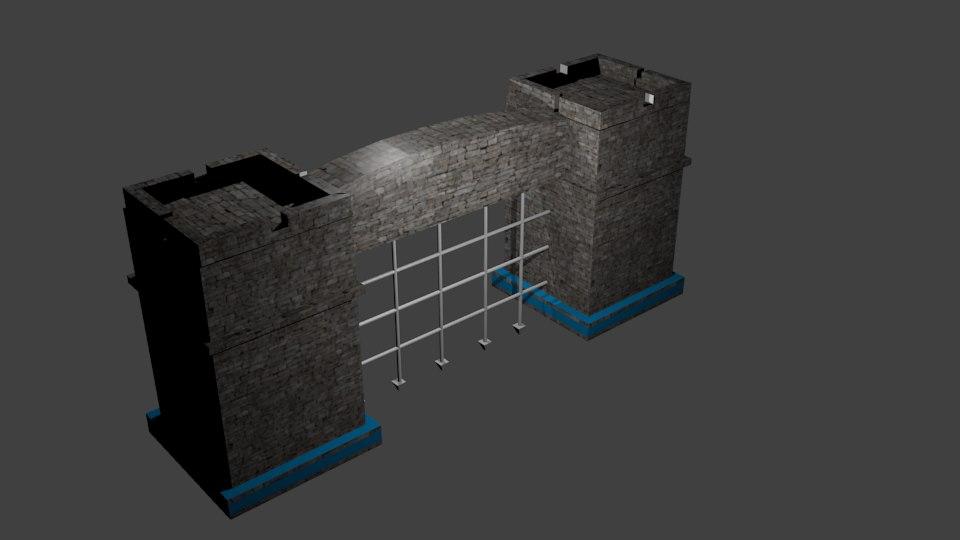3d castle gate model