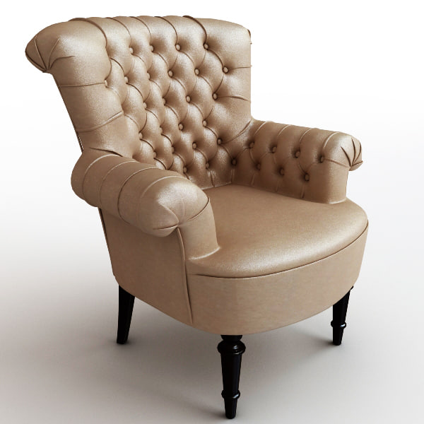 leather armchair chair 3d model