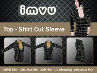 Top - Shirt Cut Sleeve