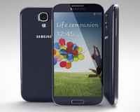 3d white samsung galaxy siv model
