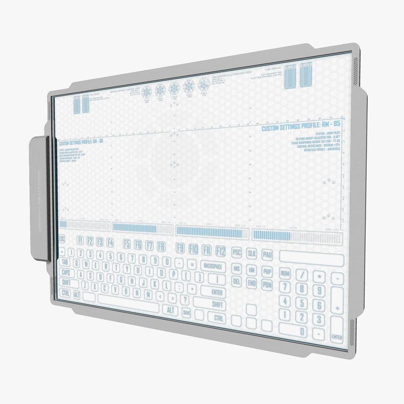 a4 data pad tablet 3d model