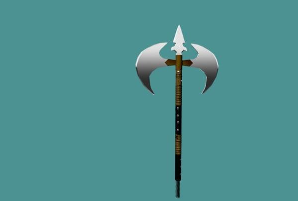 3d model battle axe