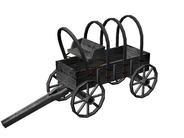 free ma mode old wooden cart