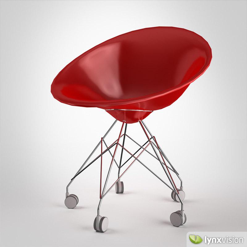3d model ero s  chair philippe